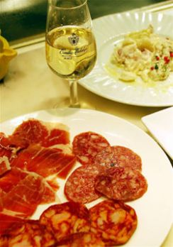 Mixed Iberico cold cuts in Tokyo's old town of Monzen-Nakacho