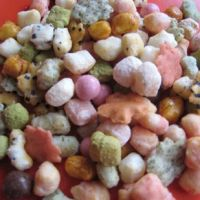 Girlie goodies: Kyoto-Kansai-style  hina arare , a multicolored sweet and savory rice-cracker mix.