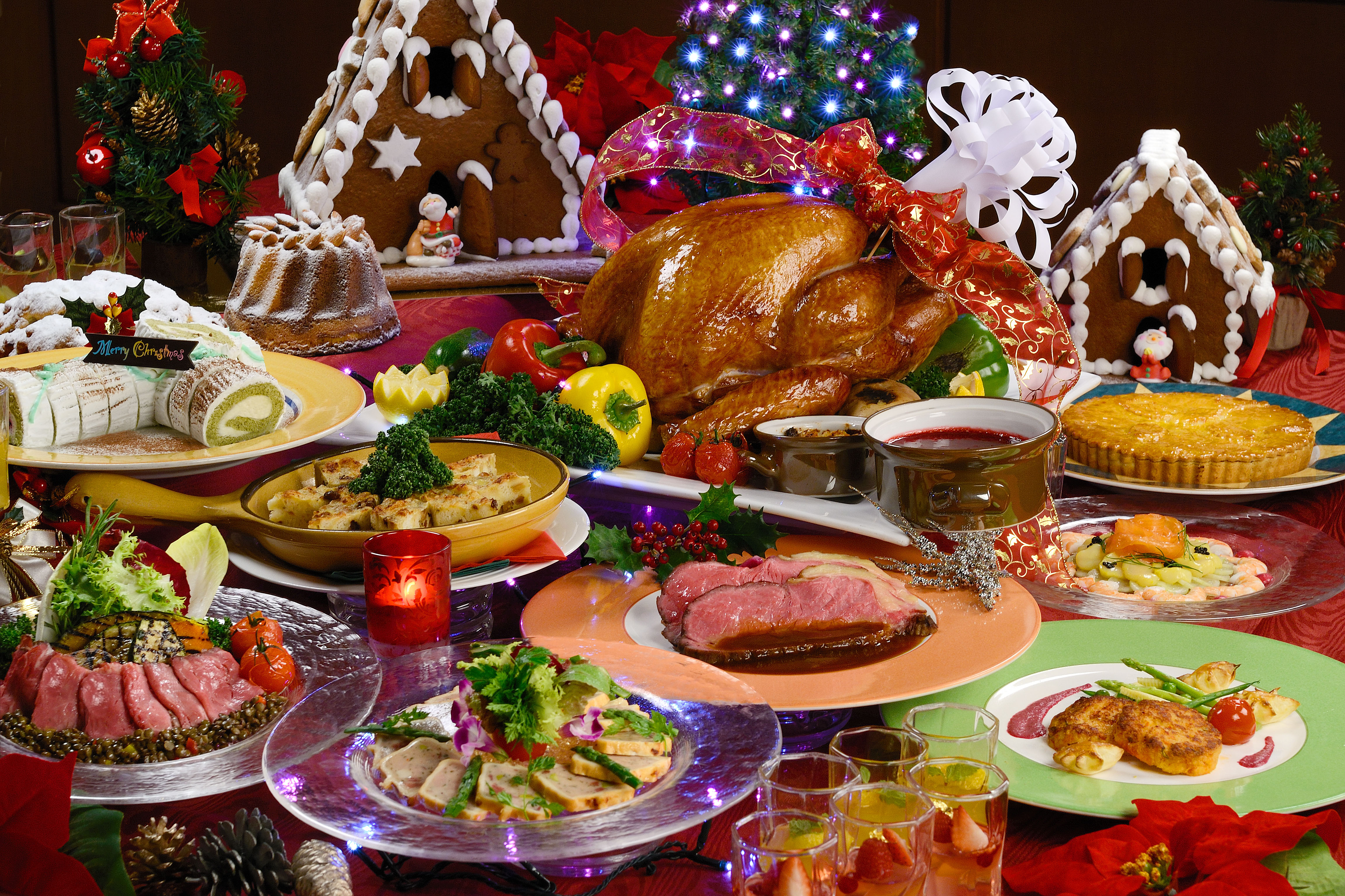 Talking turkey: The Checkers brasserie at Hilton Osaka is one of many Kansai restaurants offering a mouthwatering seasonal spread over the holidays. Other options range from traditional Italian dishes at Via Transito in Kyoto to the Oriental Hotel in Kobe's Peking Duck.