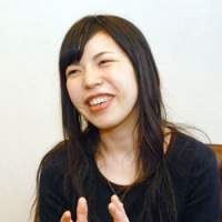 Acclaimed author Nanae Aoyama during her recent JT interview | YOSHIAKI MIURA PHOTO