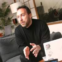 Wikipedia founder Jimmy Wales during his recent JT interview | ERIC PRIDEAUX PHOTOS