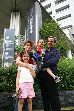 The Dogan family were all smiles last month after picking up a one-month special visa that enables them to start their new life in Canada, bringing an end to more than eight years spent in fear of being sent back to Turkey, from where the Kurdish family fled claiming persecution. | DAVID McNEILL PHOTO