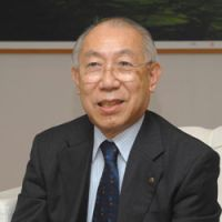 Business for culture: Yoshiharu Fukuhara, the honorary chairman of cosmetics giant Shiseido, is also one of Japan's most informed lobbyists for culture. 'Not a single law has come out of the 2001 Fundamental Law for the Promotion of Culture and the Arts,' he says.   YOSHIAKI MIURA PHOTO