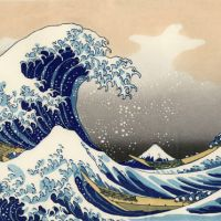 Fear and boating: A 1930s copy of 'The Great Wave off Kanagawa' by Katsushika Hokusai (1760-1849), which appears to reflect popular trepidation over the ocean's power.