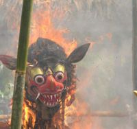 Smoke symbols: A resplendent funeral pyre in a village near Ubud in Bali | JEFF KINGSTON