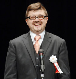 Petr Holy from the Czech Embassy, recipient of the Agency for Cultural Affairs' Prize.