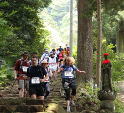 For a good cause: Active types participate in last year's Oxfam Japan Trailwalker, a 100 km charity hike from Odawara to Lake Yamanaka. | COURTESY OF OXFAM JAPAN