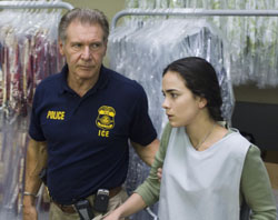 Harrison Ford and Alice Braga star in 'Crossing Over.' | SHOWGATE/AP