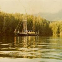 Set fair: Daemon, a 20-ton albacore troller, at anchor in Barkley Sound on the west coast of Vancouver Island, British Columbia. The author skippered this boat in 1976 and '77.