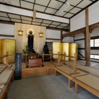 A temple room within Engakuji monastery where Suzuki is believed to have meditated.
