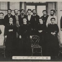 Paul Brunat (back row, second from right) is pictured with his French staff at the Tomioka Silk Mill in this undated photo. | COURTESY OF THE TOMIOKA SILK MILL