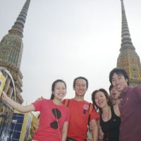 Room to grow: Reina, Takahiko, Hiroko, Genki and Ryuma Nishida pose for a picture in Thailand in April. | COURTESY OF NISHIDA FAMILY