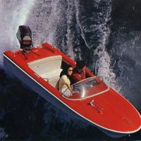 A 4-meter Yamaha H-14 from 1960, whose design Horiuchi worked on.