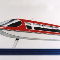 High hopes: Horiuchi's unrealized design for a medium-size, twin-strut, 12-seat hydrofoil.