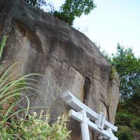 The Shinmei Shrine is located in a mountainside cave on Shiraishi Island.   AMY CHAVEZ PHOTO