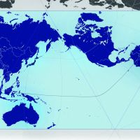 A new world: The AuthaGraph map projection of the Earth developed by Tokyo-based architect-cum-artist Hajime Narukawa. By accurately representing all the areas of land and sea, Narukawa's projection corrects those distortions in the 1569 Mercator projection (bottom of the story), which remains the standard view we have of the world to this day. | © AUTHAGRAPH CO. LTD.