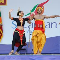 The Channa-Upuli dance troupe from Sri Lanka performs the country's traditional dance during the Sri Lanka Festival held at Yoyogi Park in September 2010. | SRI LANKA EMBASSY