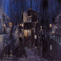 Yokoo's 2008 acrylic-on-canvas, 'Astral Town'