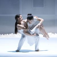 Kimiho Hulbert and Shintaro Hirahara perform in the ballet 'White Fields' in January 2009 at the Aoyama Round Theater in Tokyo. | YUSUKE MASUDA