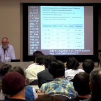 Dissenting voice: Sebastian Pflugbeil, president of the German Society for Radiation Protection, talks about radiation and health at the Oct. 12 forum in Tokyo. | TOMOKO OTAKE PHOTO