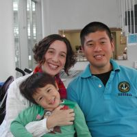 Pair's engagement blossomed in China