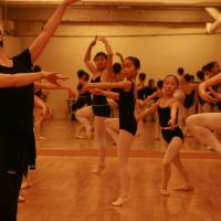 Stepping out: Instructor Megumi Shike leads the audition class at J Ballet Arts Ilunga in Shibuya.