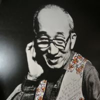 A photo of the Mamoru Yoshida, who founded Chigusa in 1933, that hangs in the cafe.
