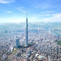 High point: Tokyo's downtown is set to go up in the world with the Sky Tree having reared up as a visitor magnet in its midst. | SKYTREE