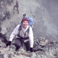 Top class: Junko Tabei pictured climbing a rock face during her 2008 ascent of Pico Bolivar, which, at 4,981 meters, is the highest mountain in Venezuela. Tabei says her dream is to scale the highest mountain in every country in the world. | JUNKO TABEI