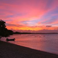 Local color: Just another sunset on Likiep Atoll. | CHRISTOPHER JOHNSON