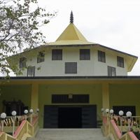 A world of devotion: In the Monastic Zone mapped out in Kenzo Tange's Master Plan for Lumbini, monasteries have so far been built on around half the 42 lots available to countries from around the world, including by Germany, China, Austria and Burma.