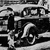 Burn out: Taxi in 1941 powered by charcoal due to wartime gasoline shortages.   TTA