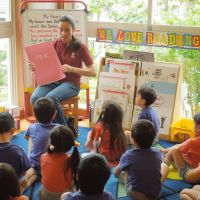 Kindergartners get language boost with English immersion program