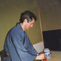 Past continuous: Atkinson practices the art of the tea ceremony. | DAVID ATKINSON