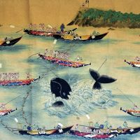 Page from history: A picture scroll depicts traditional whaling at the  Taiji  Whaling Museum in the famous  Wakayama Prefecture whaling town. | KYODO