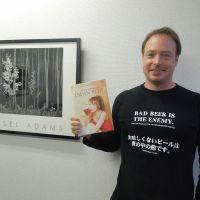 Kampai!: Ry Beville holds a copy of the bilingual Japan Beer  Times magazine at his office in Yokohama. | MAMI MARUKO