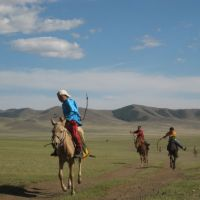 Mongolian horseriders start young