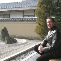 Expert guide: Mark Hovane talks about the beauty of kare sansui (dry rock gardens) at the Isshidan garden within Ryogenin, a subtemple at Daitokuji Temple in Kita Ward, Kyoto. | JANE SINGER