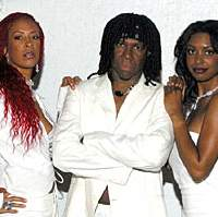 Nile Rodgers (above center) & Chic perform next week at Blue Note Tokyo