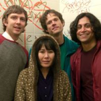Freak out: Deerhoof are (left to right) John, Satomi, Greg and Ed.