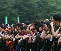 Fun alfresco: 119,000 revealers enjoyed the sunshine and music at Fuji Rock '08 in Naeba, Niigata Prefecture. | SAKURA KOMPARU