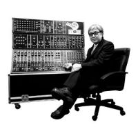 Synthly irresistable: Hideki Matsutake, aka Logic System, sits with the Moog 3-C, a machine he plans to bring to the Freaks Music Festival on May 7.