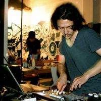 Self-made: Masayuki Kubo, who performs music as And Vice Versa, plays at a previous Innit electronic-music party. The Osaka events try to engage customers by encouraging them to make music and bring it along to be played during the night.   © ALL RIGHTS RESERVED BY INNIT MUSIC