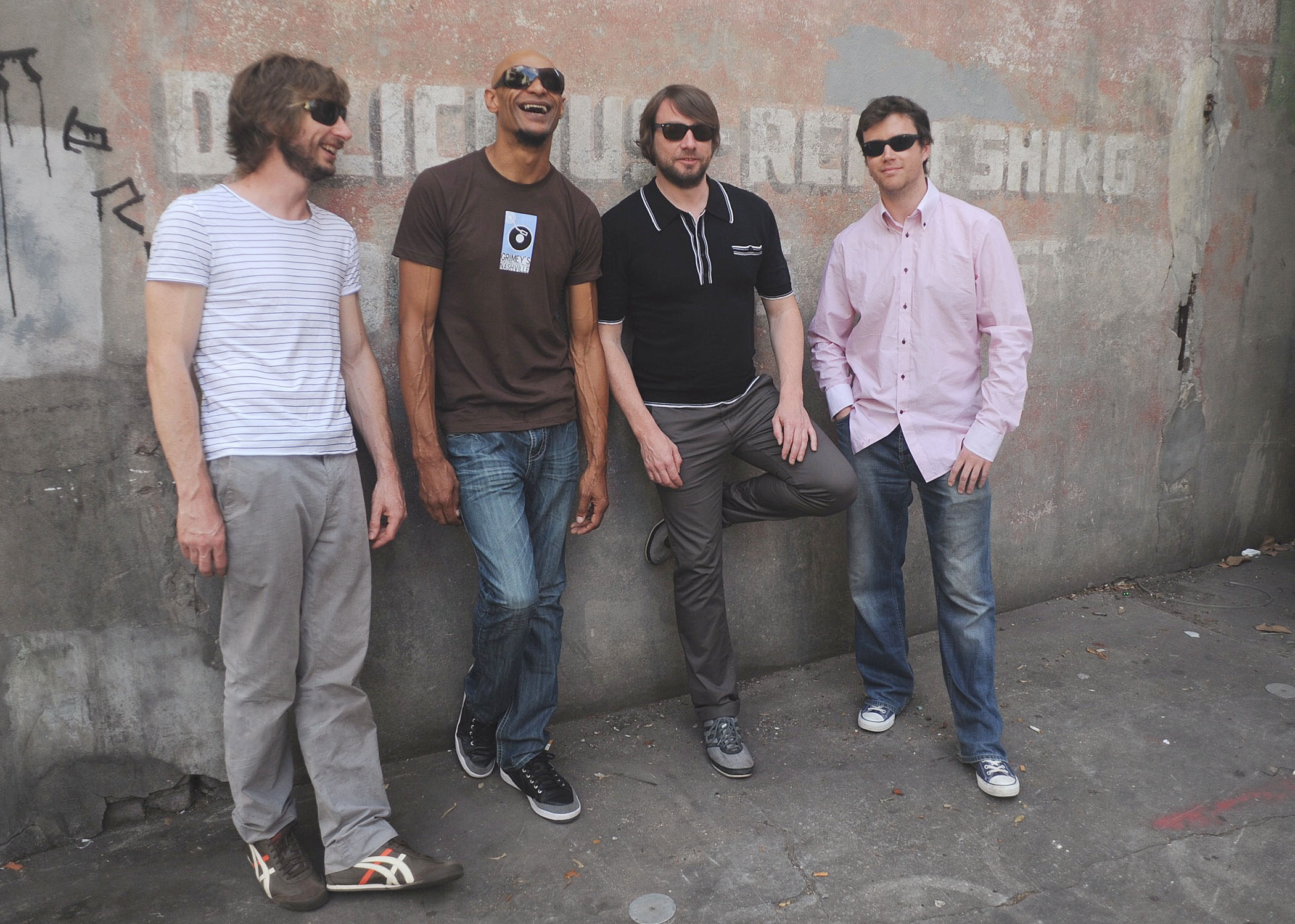 Funk soul brothers: The New Mastersounds are (from left) Simon Allen, Pete Shand, Eddie Roberts and Joe Tatton.