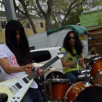 Rising talent: Gagakirise play a gig on March 17 at the South by Southwest music showcase in Austin, Texas.   JOE (VVDBLK)
