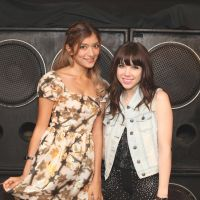 Girl talk: Rola and Carly Rae Jepsen discuss their interest in spreading happiness through their music.   PHOTO BY EMI MACHIYAMA