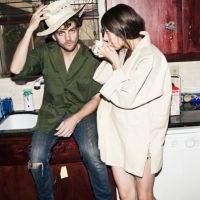 In your arms: Patrick Wimberly and Caroline Polachek make up the duo Chairlift.