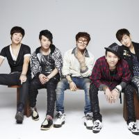 Regular folk: Ulala Session is (from left) Park Seung-il, Goon Jo, Kim Myung-hoon, leader Lim Yoon-taek and Park Kwang-sun. The group rose to fame after winning a TV talent show in South Korea.