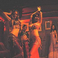 Bellydancer Eshe (far left) with her Afet Collective | NAM PHOTO