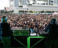 U.K. progressive-rock act System7 performing at Nagisa in autumn 2005. The duo return to play this year.